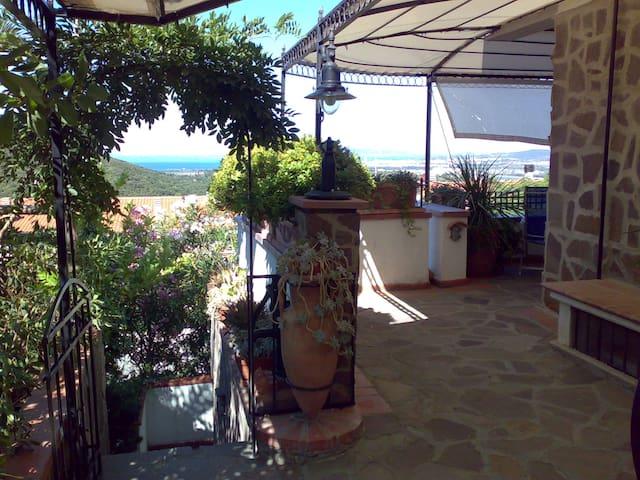 Casa Stella Maremma Toscana vista mare sull'Elba - Zona 167 Scarlino - Appartement