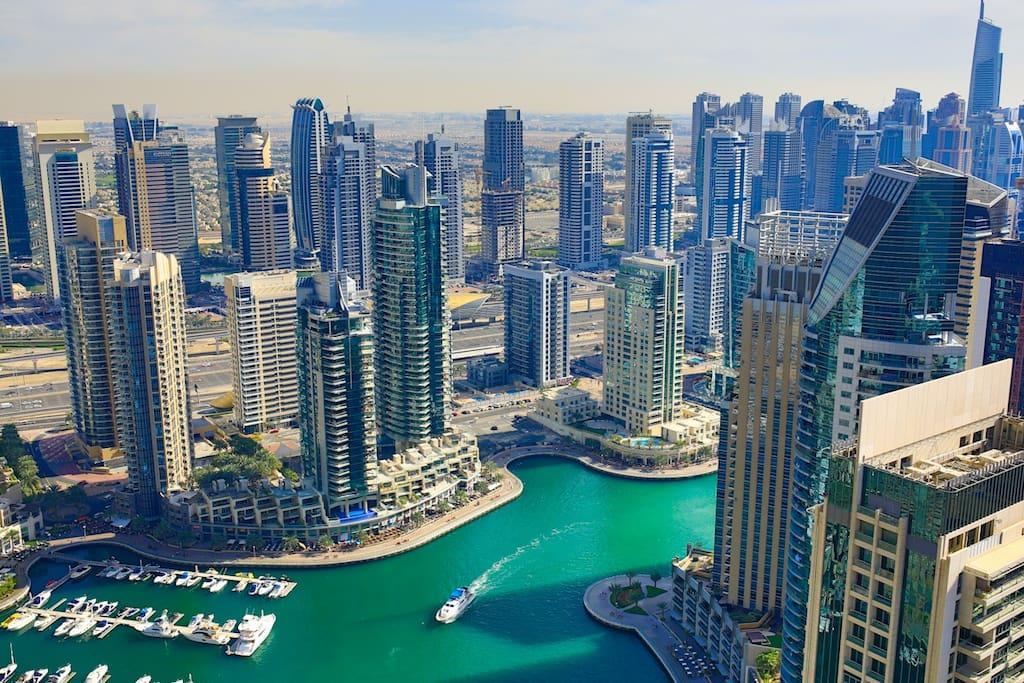 Breathtaking view over Marina