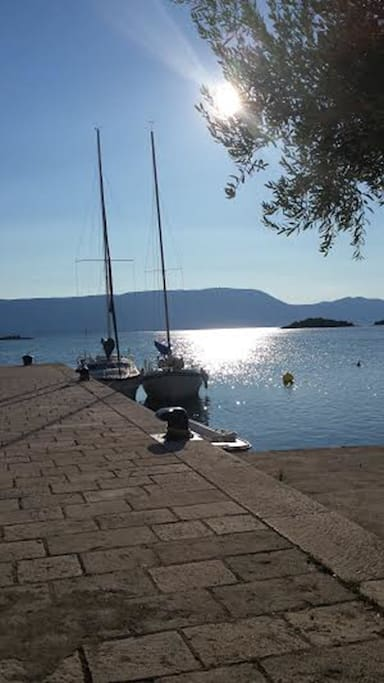 Peaceful views on the Dalmatian coast