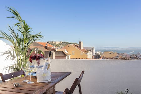 Rossio Penthouse-Central River View - Lisboa - アパート