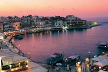 Chania old Harbor by night!