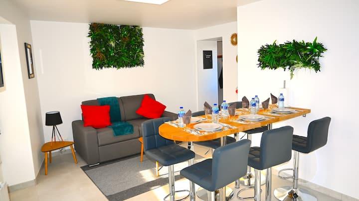Class&Tropical Appt 10mn CDG Airport+Breakfast