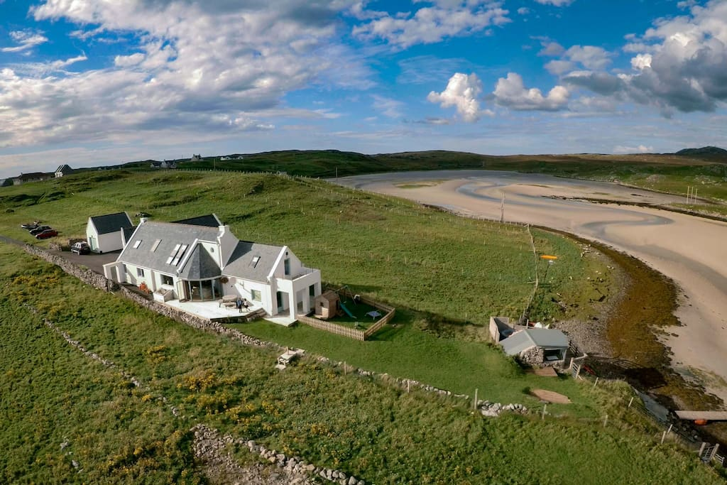 Aerial of our House - the Guest Suite is the front section nearest the sea