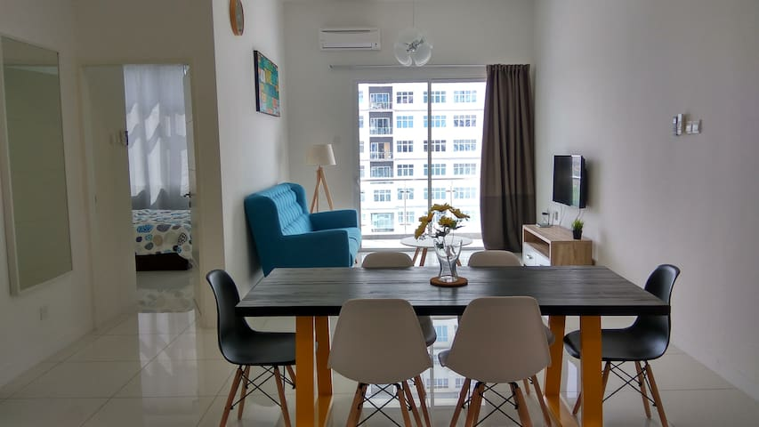 Cozy apartment @ Puchong SKY.POD IOI SUNWAY 蒲种 民宿 - Puchong - Appartement