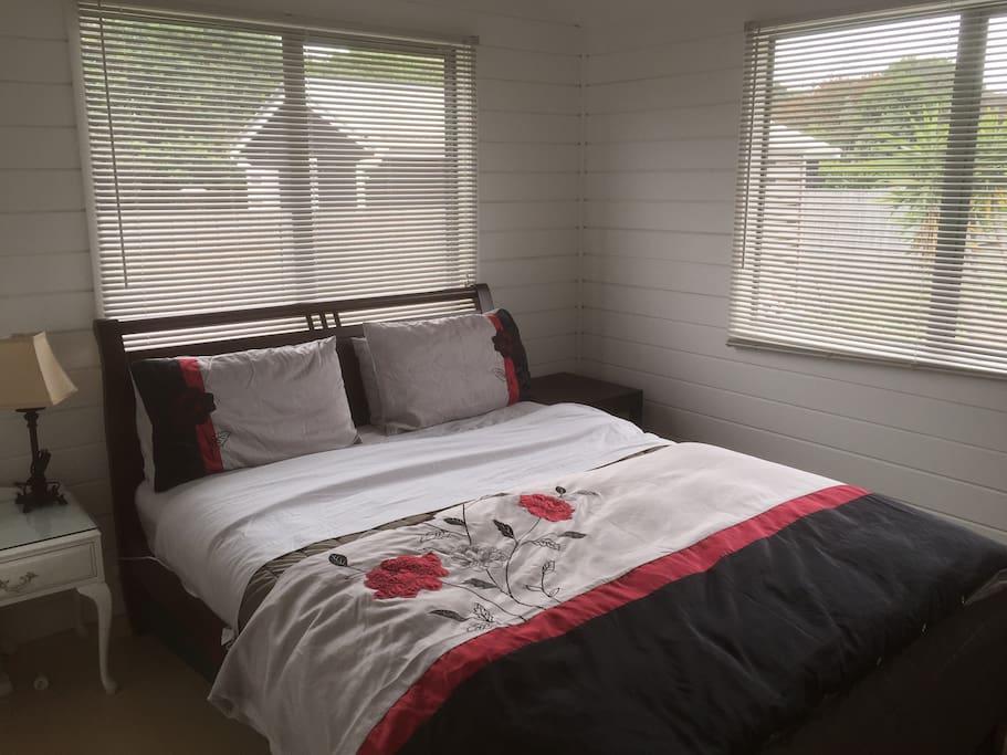 Bedroom 1 pillow top Queen bed