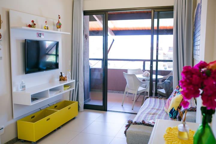 Sacada e sala de estar