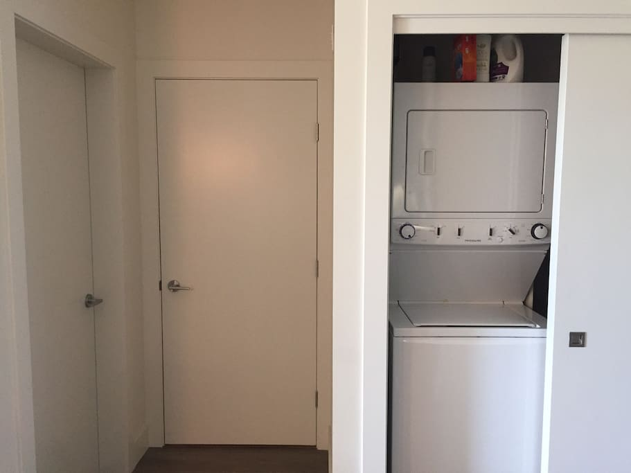 In suite washer and dryer facilities