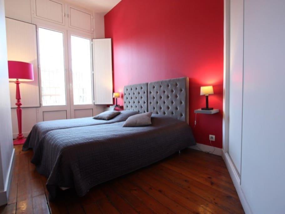 Chambre 2 : Deux lits en 90 cm