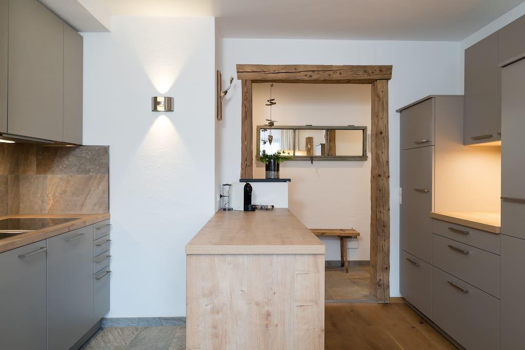 Küche/Wohnraum Zirbenstudio