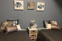 2 full beds - memory foam pillow top beds