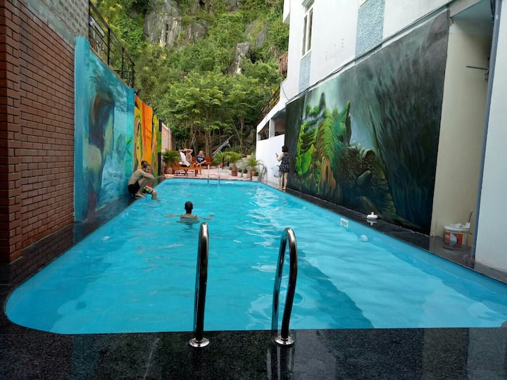 Thien Thanh Hotel - Twin room with Mountain view