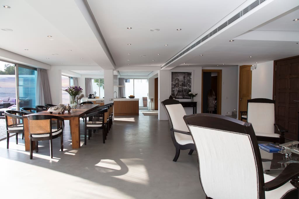 Large open-plan lounge & dining  area (Wifi throughout) with seperate WC