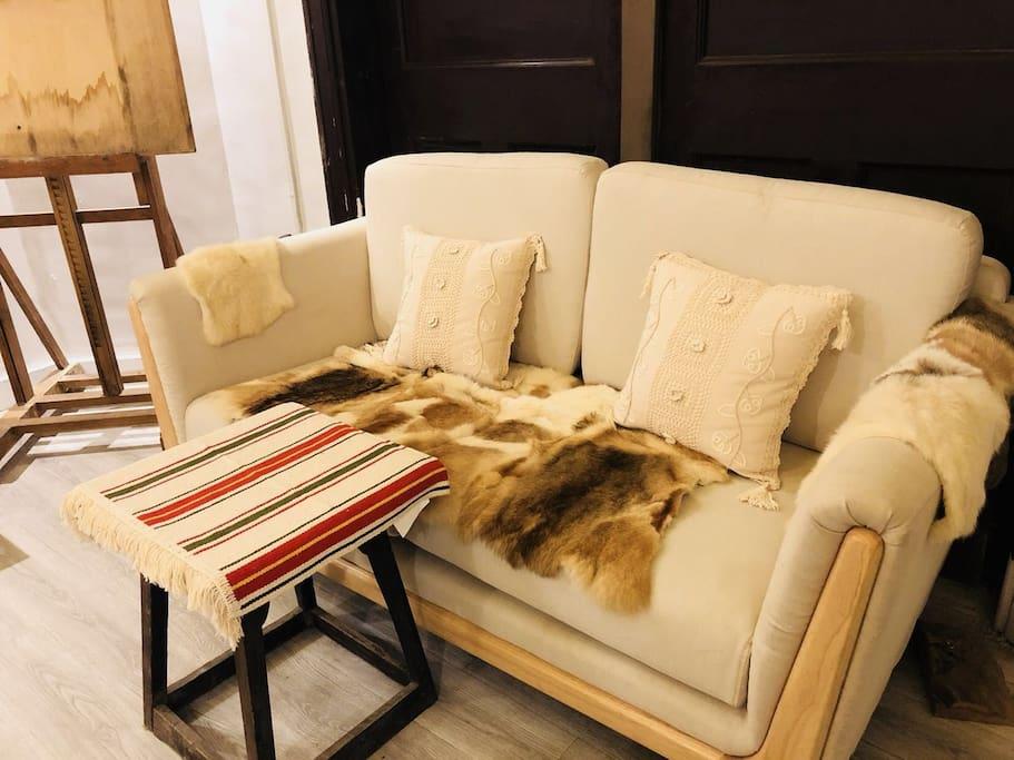 淘了好久的橡木沙发!