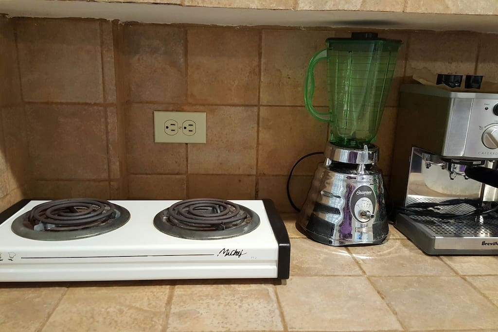 We have an electrical grill, blender, expresso machine