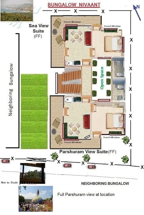 Layout Sea View Suite