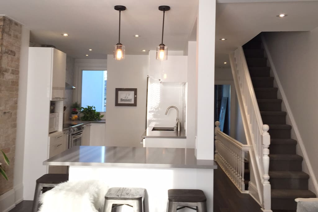 Luxe urban oasis kitchen