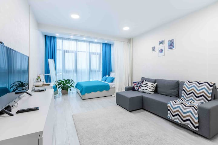 Apartment «BLUE SKY» БЕСКОНТАКТНОЕ ЗАСЕЛЕНИЕ