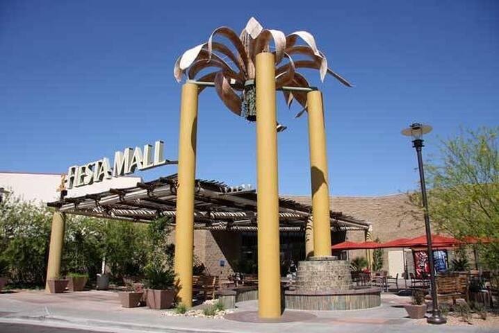 Fiesta Mall 7 minutes away
