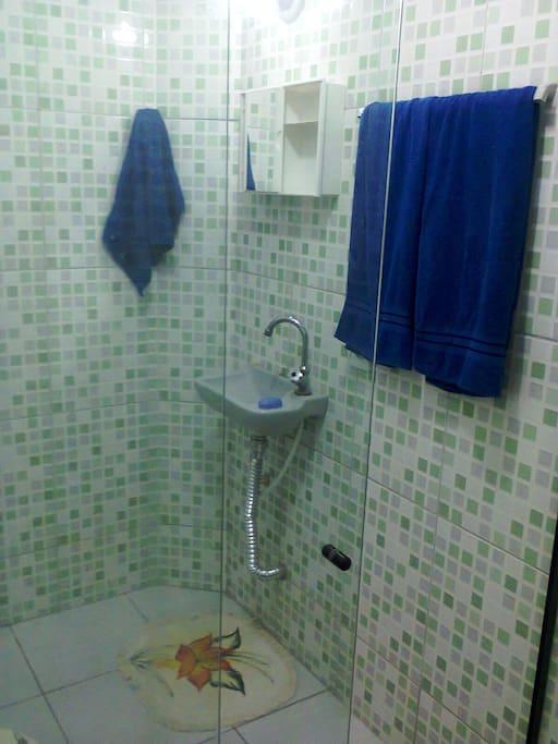 banheiro da suite da casa