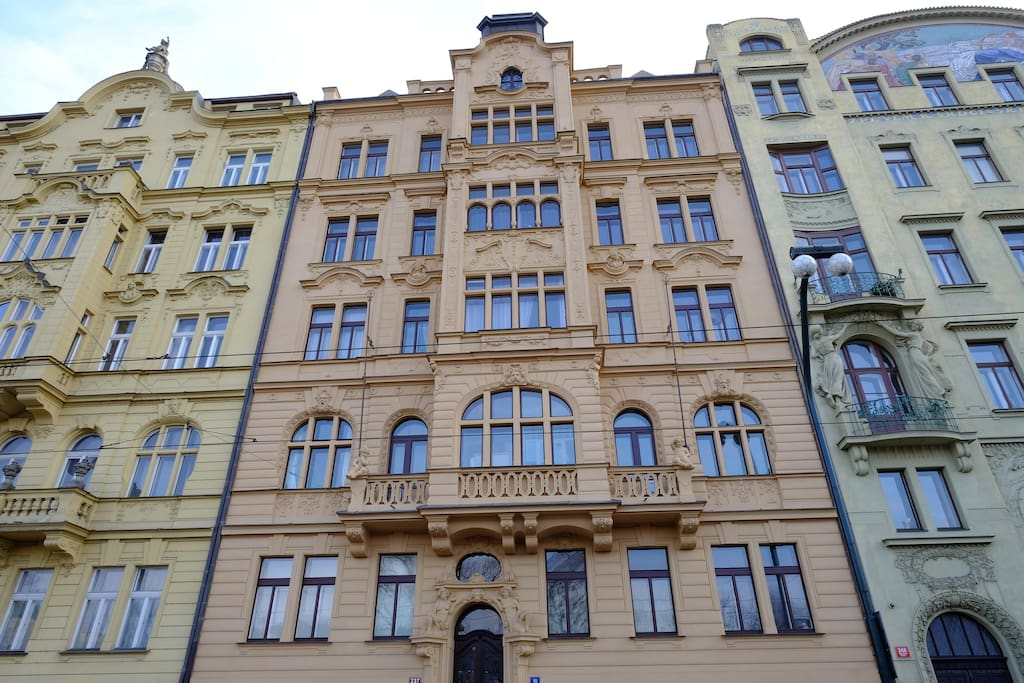 One of the most beautiful art nouveau buildings in Prague