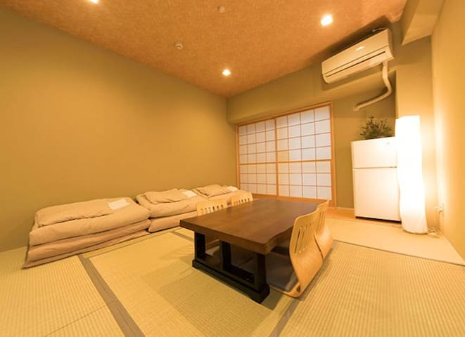 8min walk from Roppongi Station, Tatami Room - Minato-ku - Apartment