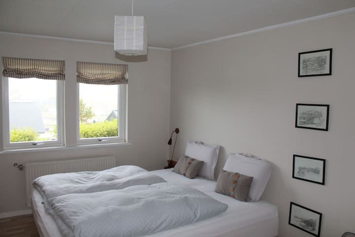 Enjoy a good night sleep in our comfy bed + tempure pillows
