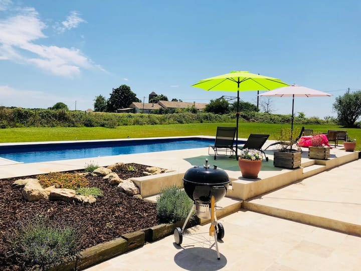 Ideal holiday home with private  heated 12m pool