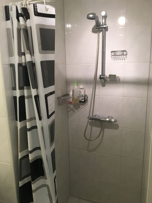 Proper hot shower to help you relax on your trip.