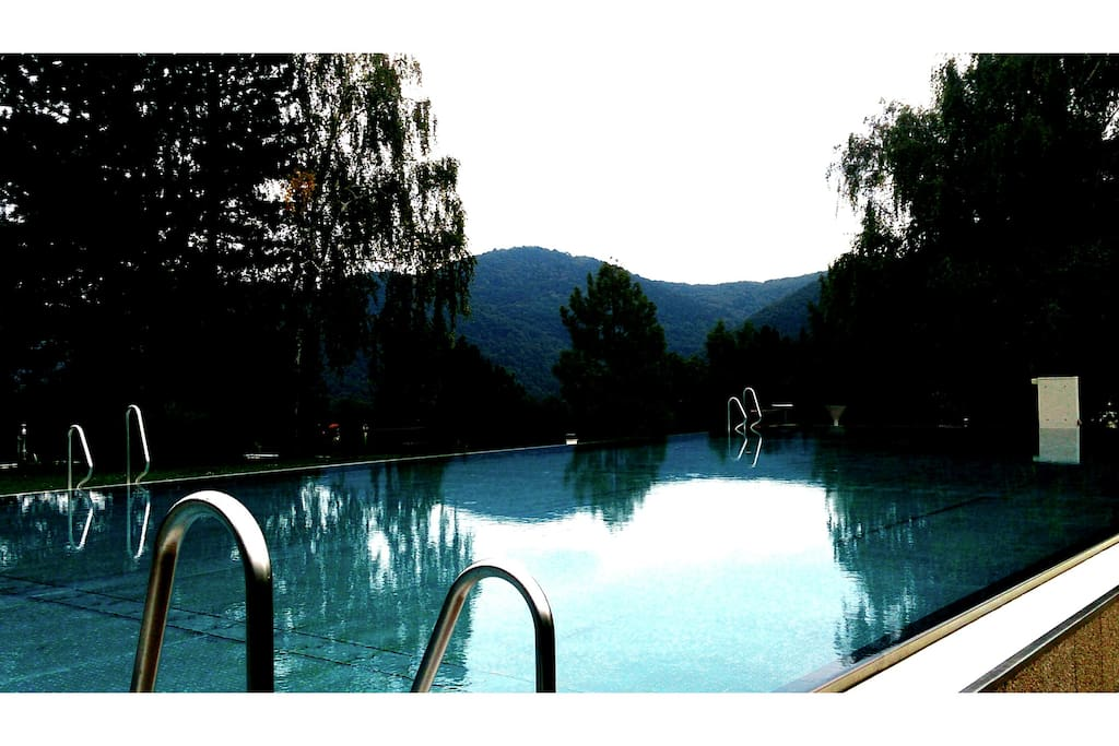 2 minutes walk from my house you can use this swimmingpool viewing the Vienna Woods.