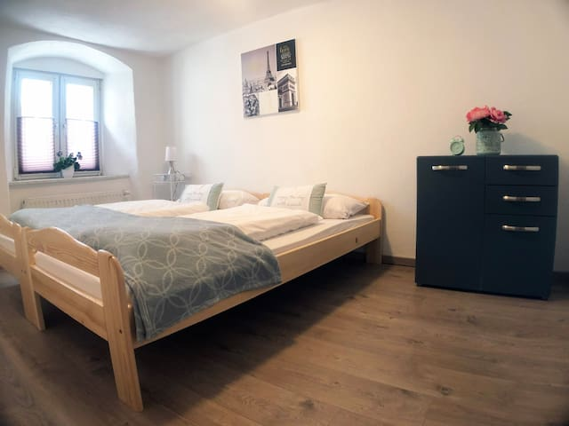 Bedroom 2 (2 single beds shown pushed together as a double bed, but they can easily be separated)