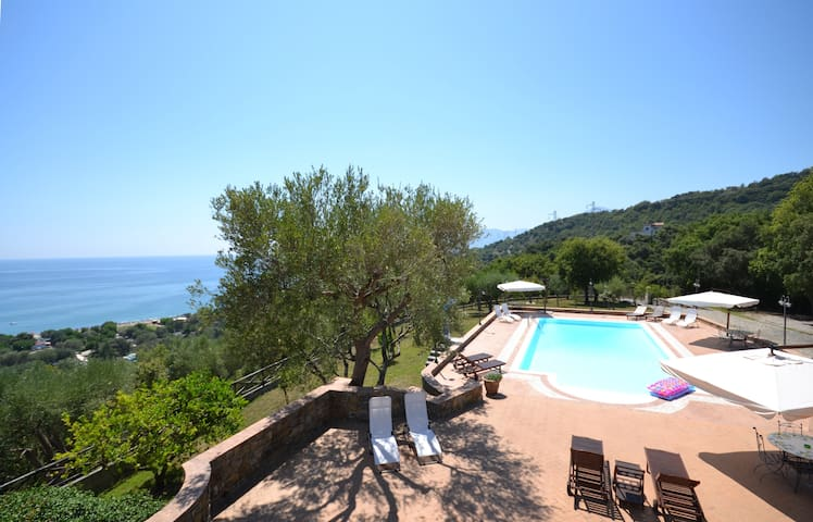 Lovely attic with sea view - Villammare  - Apartamento