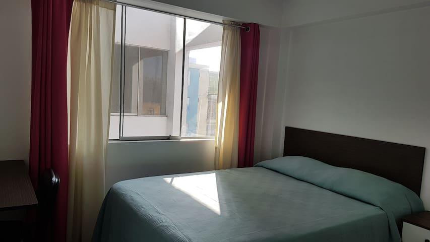 Habitación muy soleada y muy bien ventilada.