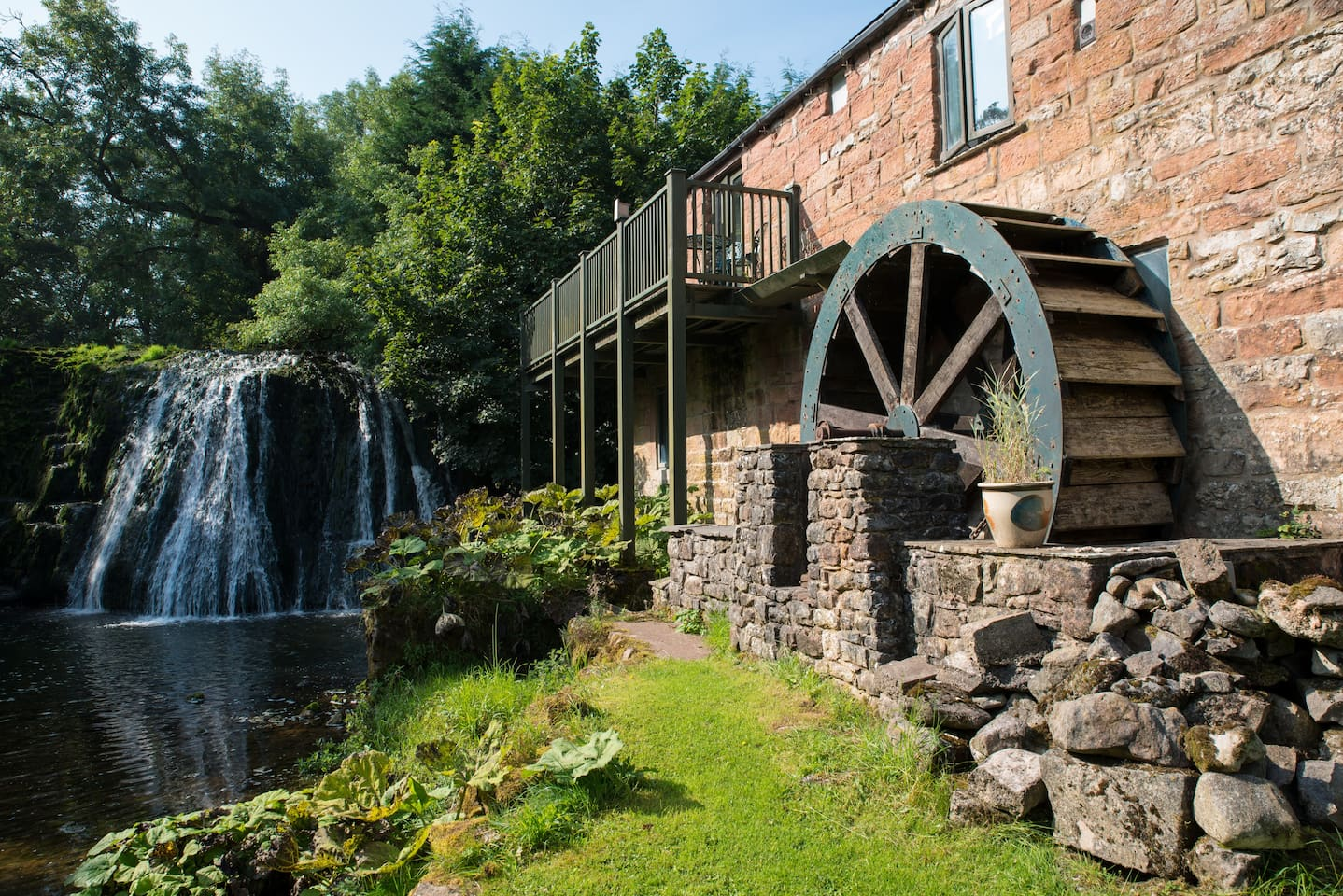 Stay in this converted watermill by the stunning Rutter Falls.