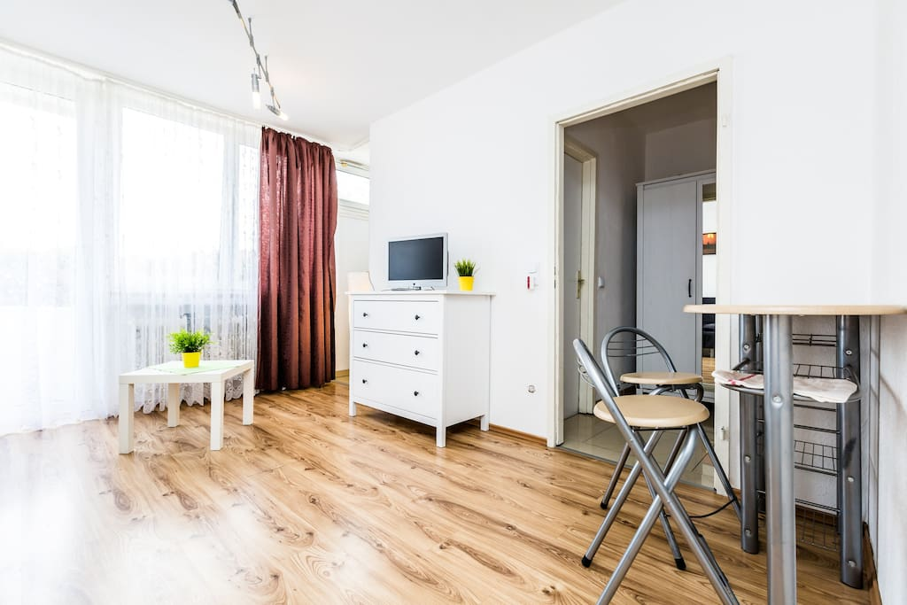 Wohnschlafzimmer mit Essbereich