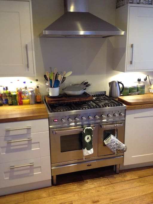 6 burner stove with double oven