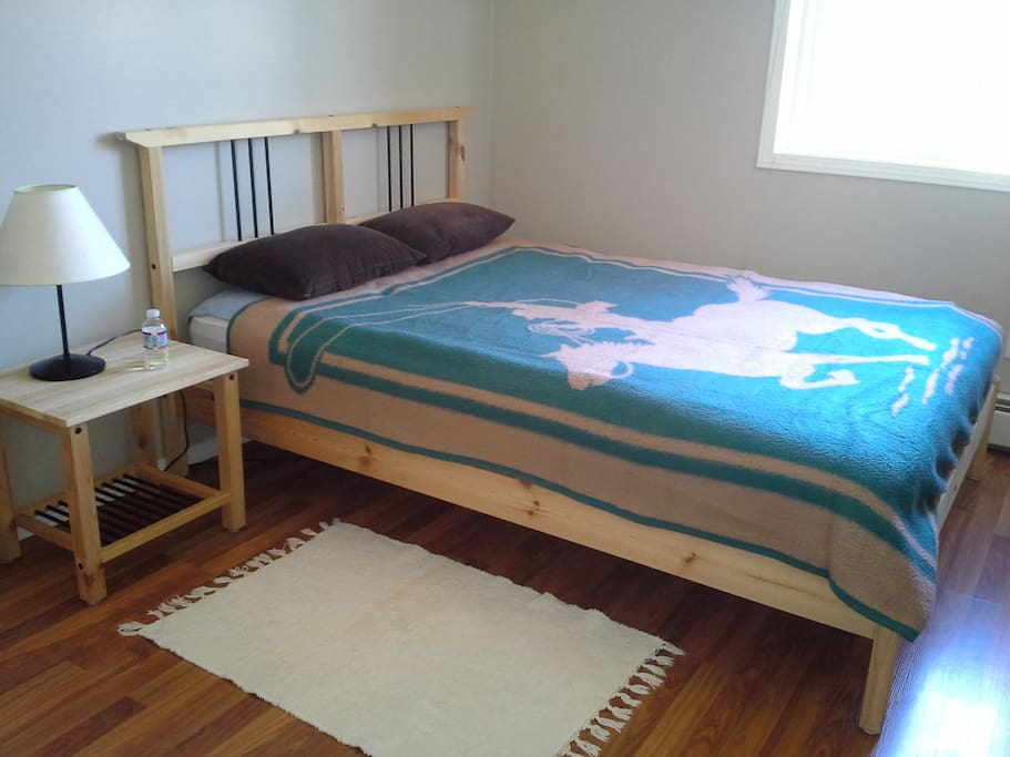 Bedroom with full bed.