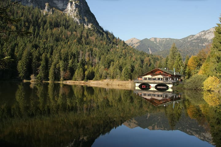 The 'Pflegersee' - a great 30-40min walk from the House - fabulous little restaurant on the water!