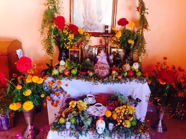 Come stay at las Azucenas for special holidays like day of the dead and experience all the traditions of Oaxaca
