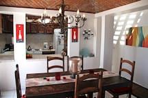 Our Dining room and Kitchen both have beautiful brick domed ceilings.
