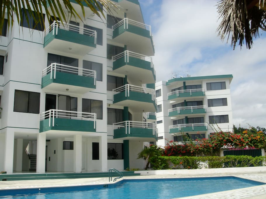 Ipanema Condominium.  Apartment is on the top floor. Two beach front balconies