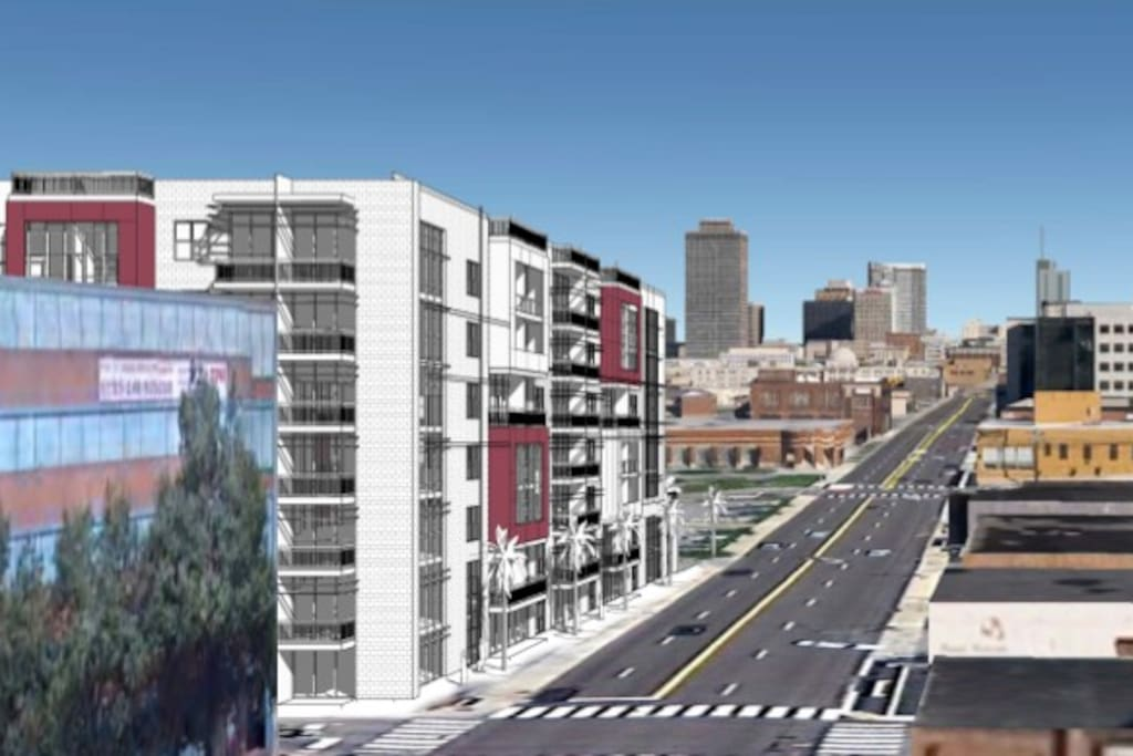 New 1818 Building with downtown Nashville in clear sight