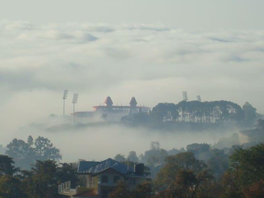 View of Dharamsala Cricket Stadium