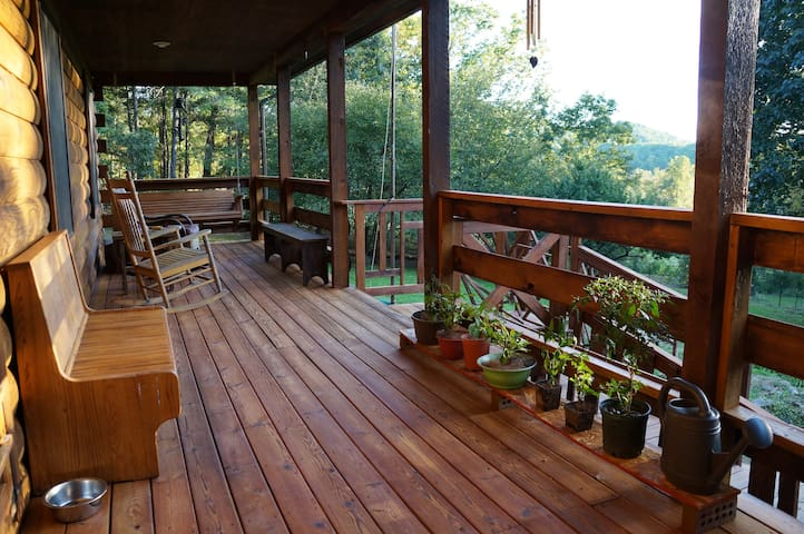 Spacious log cabin/2BR/great views! - Afton - Chalet