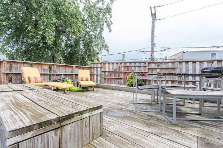 Kick back and put your feet up with us on the back deck.