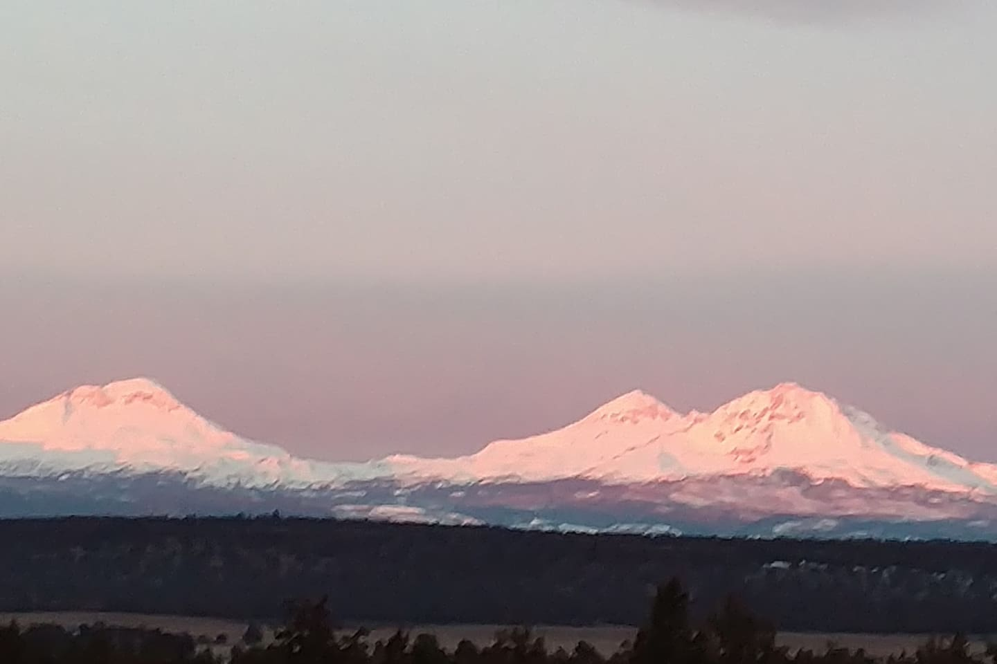 The Three Sisters -- view from our property