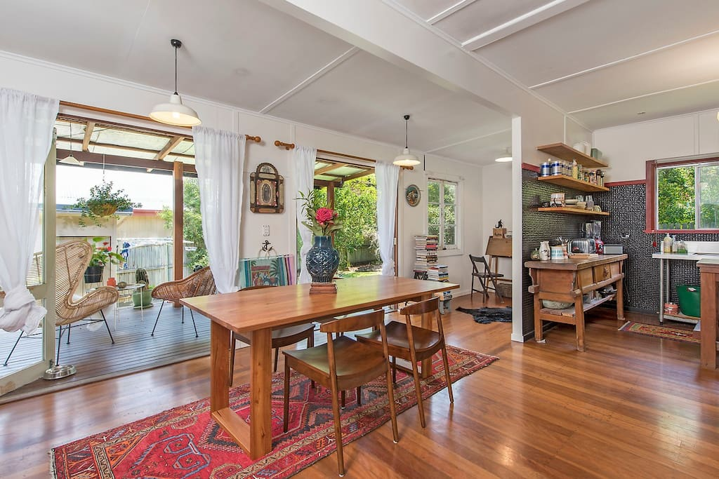 Big spotted gum dining table