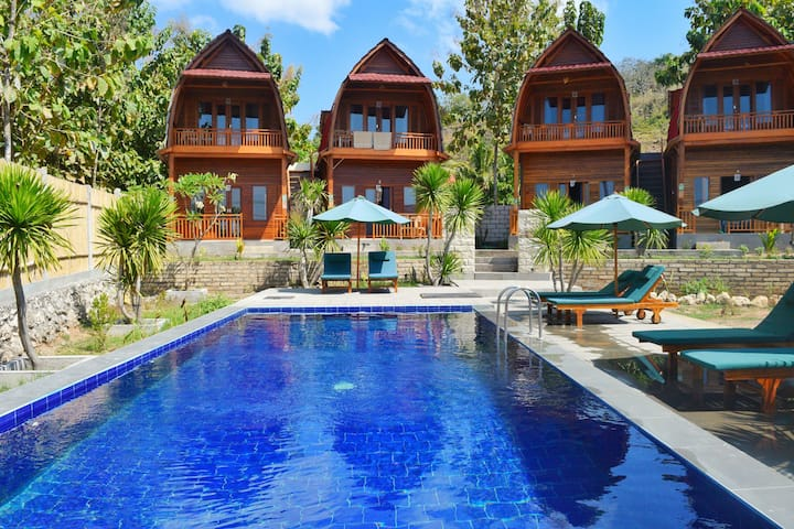 Rooms beach front with seaview and pool view