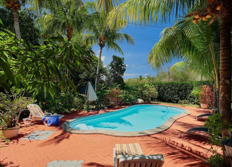 Villa belifage verte avec piscine villas louer for Campement a louer a maurice avec piscine