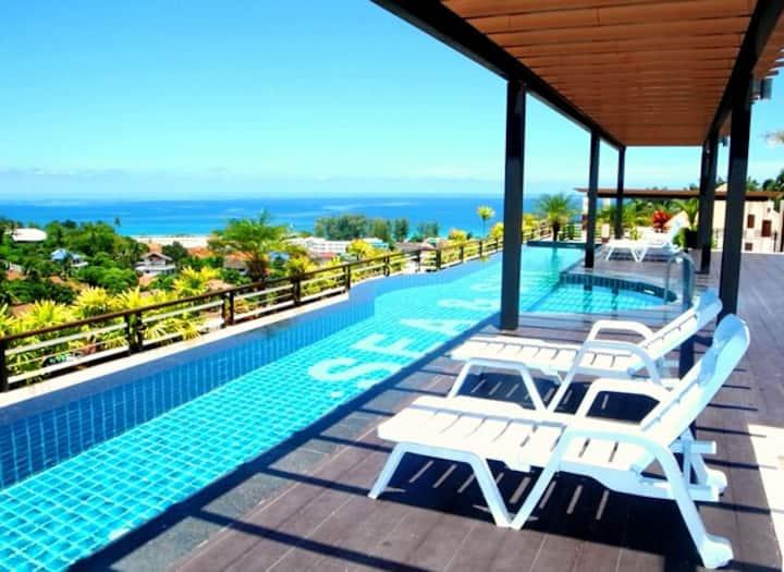 New Sea View Apartment near Karon Beach