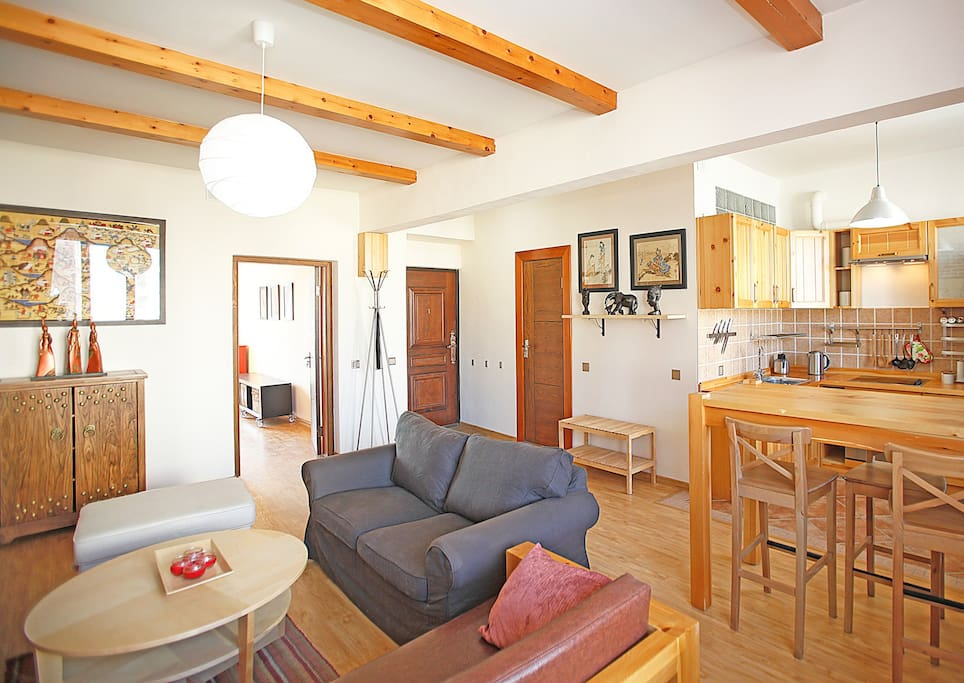 The apartment is fully furnished and equipped. It has benefited recently from a brand new renovation.